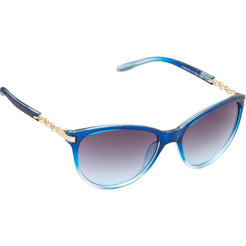 Unionbay Eyewear Chain Link Cat Eye Sunglasses Blue Fade Unionbay Eyewear Sunglasses