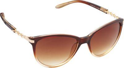 Unionbay Eyewear Chain Link Cat Eye Sunglasses Brown Fade - Unionbay Eyewear Sunglasses