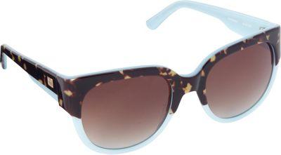 Elie Tahari Sunglasses Large Cat Eye Sunglasses Tortoise/Blue - Elie Tahari Sunglasses Sunglasses