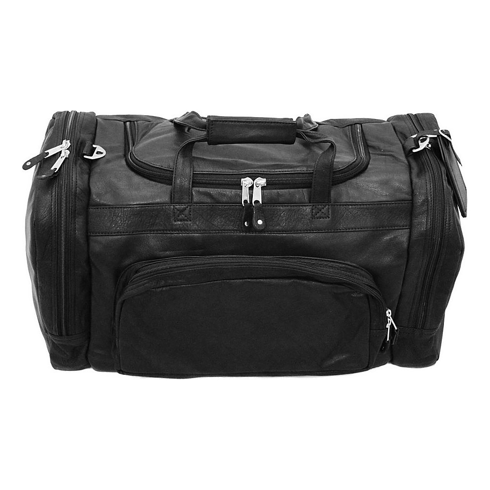 """Canyon Outback Leather Corral Canyon 22"""" Leather Duffel Backpack Black - Canyon Outback Travel Duffels"""