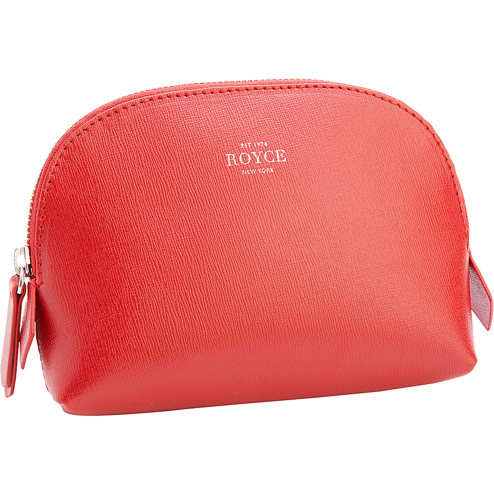 Royce Leather Luxury Saffiano Leather Travel Cosmetic Bag Red - Royce Leather Womens SLG Other - Women's SLG, Women's SLG Other