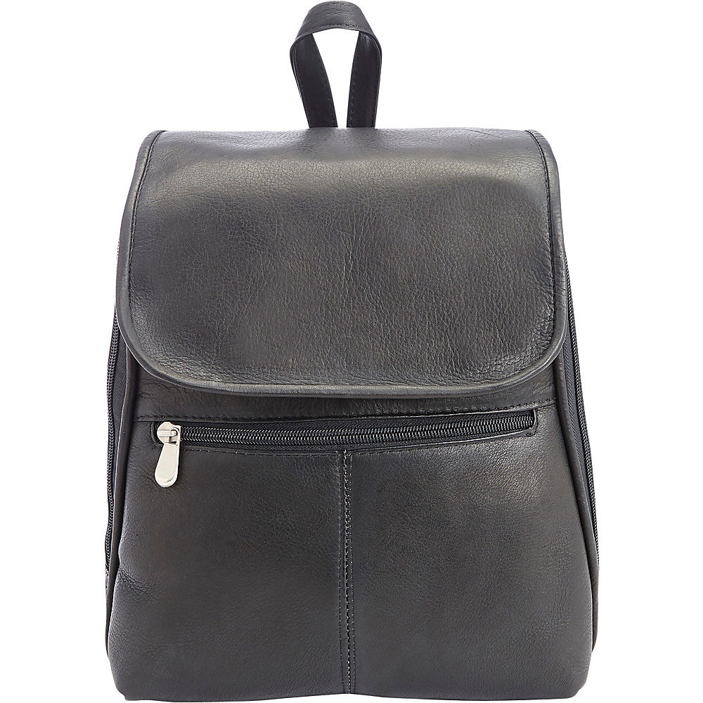 Royce Leather Colombian Leather Tablet/iPad Travel Backpack Black - Royce Leather Leather Handbags