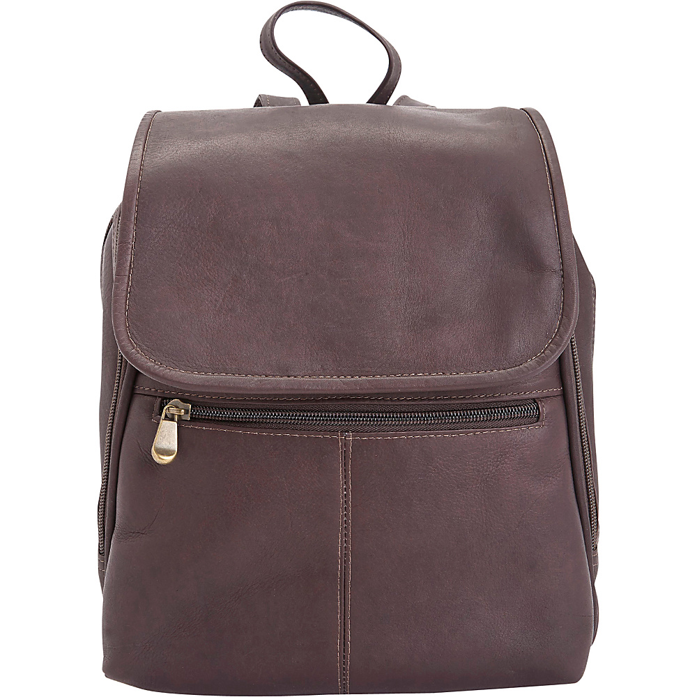 Royce Leather Colombian Leather Tablet/iPad Travel Backpack Cafe - Royce Leather Leather Handbags