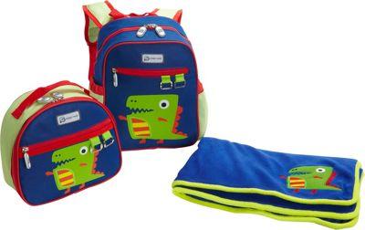 Sydney Paige Buy One/Give One Toddler Backpack + Lunch Bag + Blanket Set Dino - Sydney Paige Everyday Backpacks