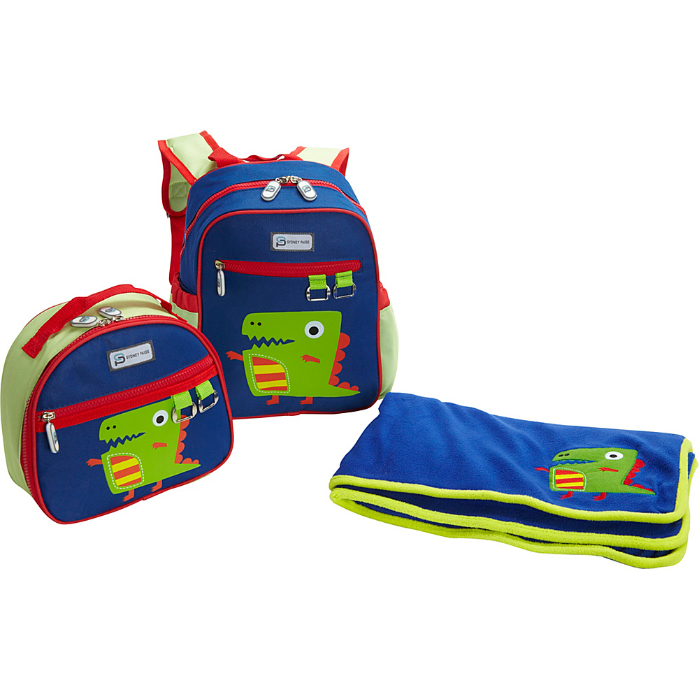 Sydney Paige Buy One/Give One Toddler Backpack + Lunch Bag + Blanket Set Dino - Sydney Paige Everyday Backpacks
