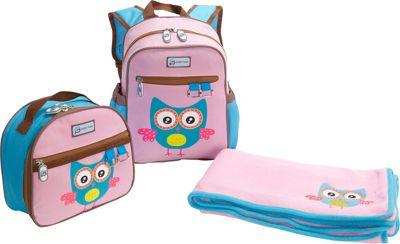 Sydney Paige Buy One/Give One Toddler Backpack + Lunch Bag + Blanket Set Owl - Sydney Paige Everyday Backpacks