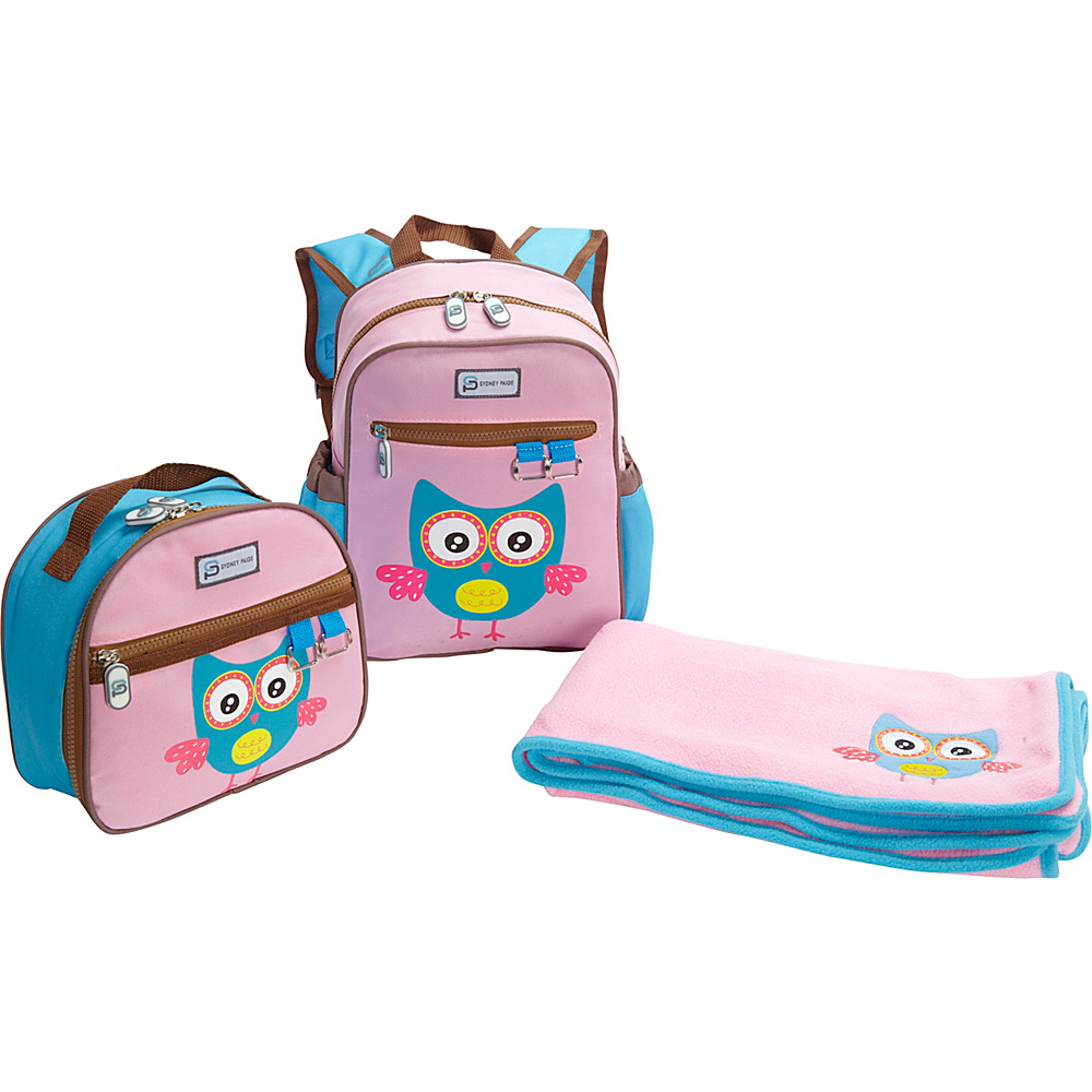 Sydney Paige Buy One/Give One Toddler Backpack + Lunch Bag + Blanket Set Owl - Sydney Paige Everyday Backpacks