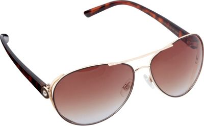 Circus by Sam Edelman Sunglasses Modified Aviator Sunglasses Gold/Brown - Circus by Sam Edelman Sunglasses Sunglasses