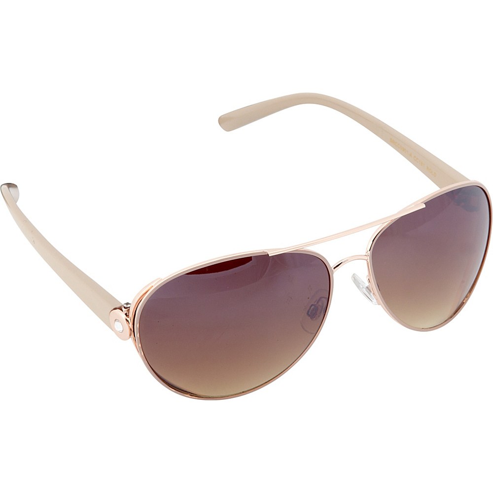 Circus by Sam Edelman Sunglasses Modified Aviator Sunglasses Rose Gold Nude Circus by Sam Edelman Sunglasses Sunglasses