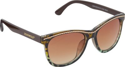 SouthPole Eyewear Cat Eye Sunglasses Brown Animal - SouthPole Eyewear Sunglasses