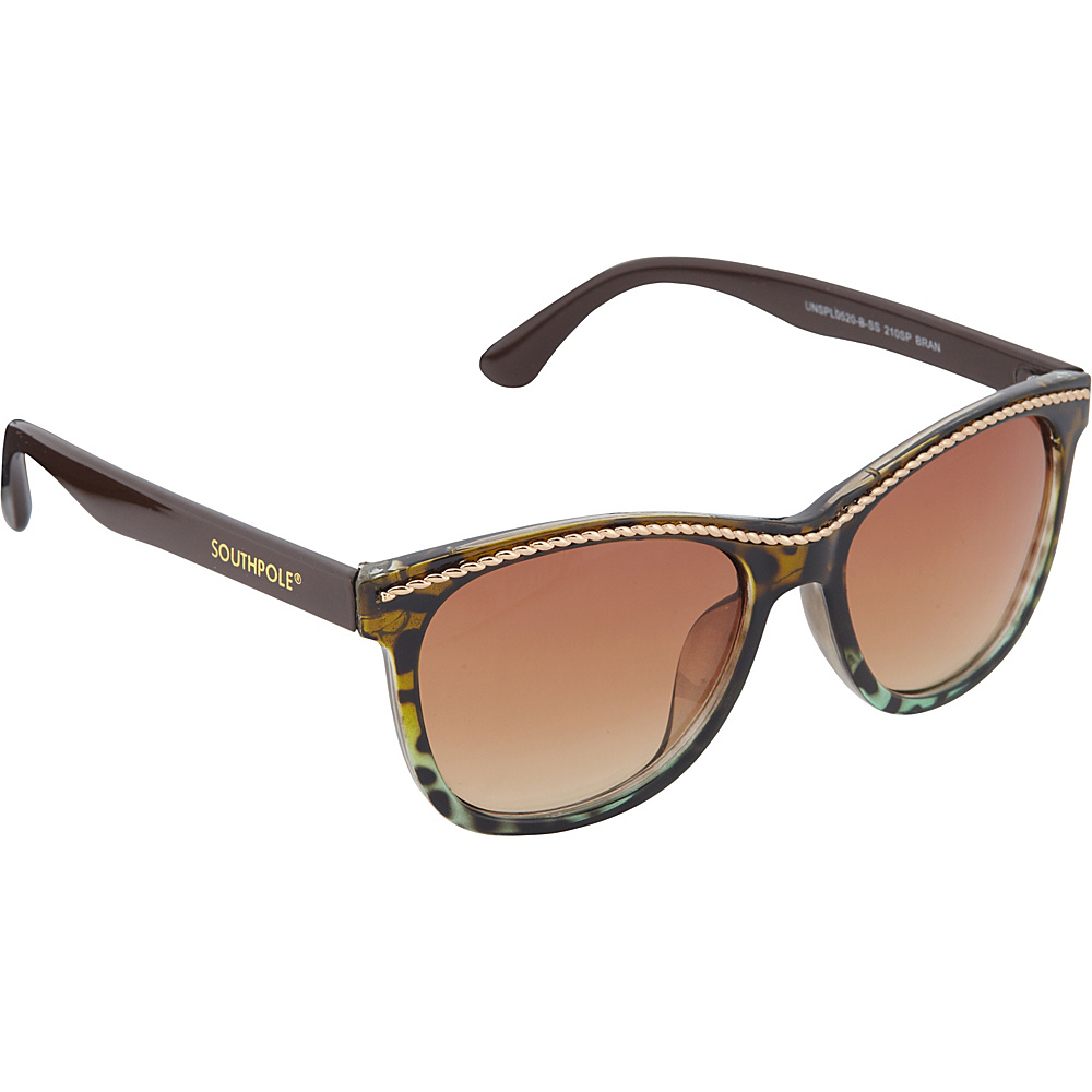 SouthPole Eyewear Cat Eye Sunglasses Brown Animal SouthPole Eyewear Sunglasses