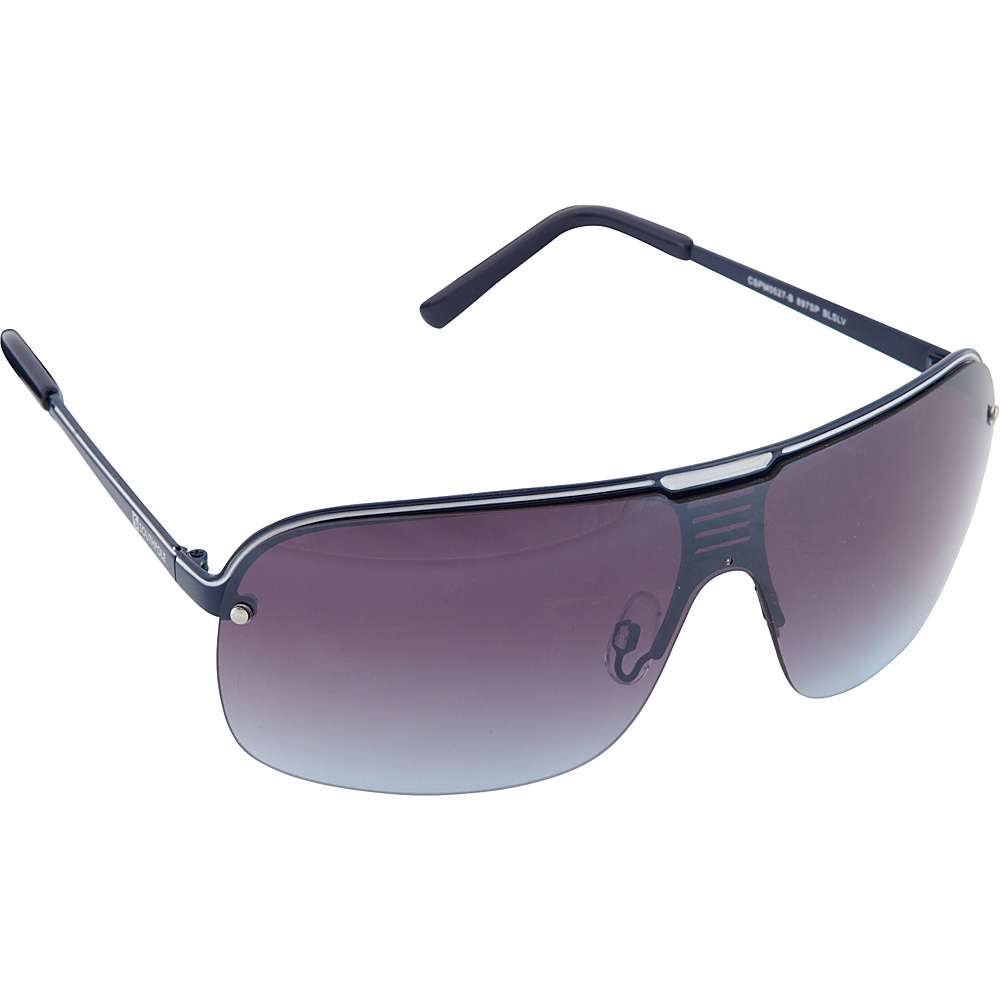 SouthPole Eyewear Metal Shield Sunglasses Blue Silver SouthPole Eyewear Sunglasses
