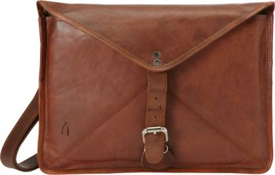 Journey Collection by Annette Ferber Goa Envelope Shoulder Bag Brown - Journey Collection by Annette Ferber Leather Handbags