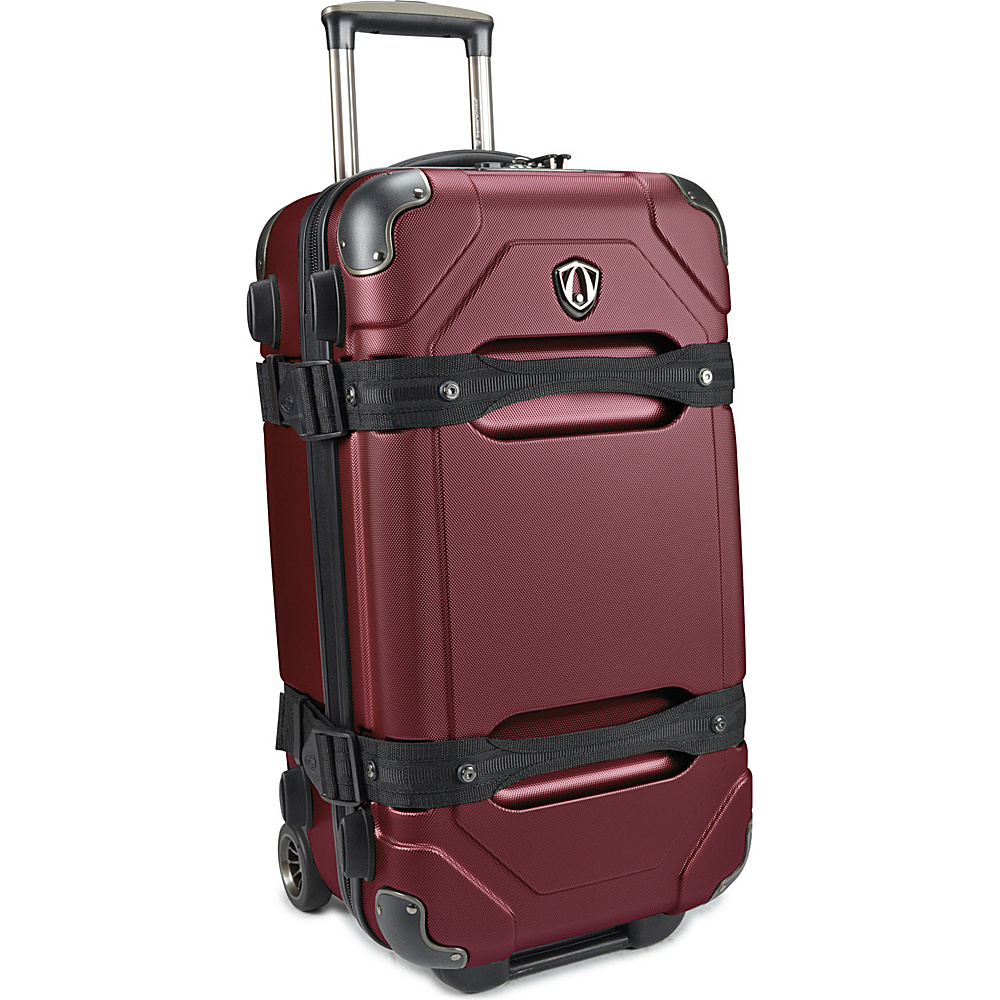 Traveler s Choice Maxporter 24 Rolling Trunk Luggage Merlot Burgundy Traveler s Choice Hardside Checked