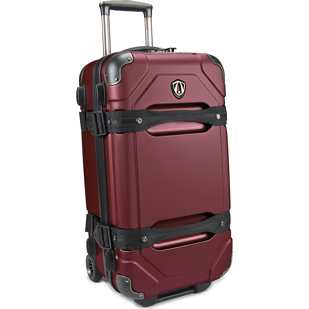 Traveler s Choice Maxporter 24 Rolling Trunk Luggage Merlot Burgundy Traveler s Choice Hardside Checked