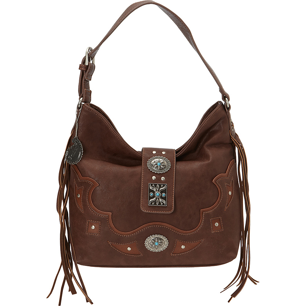 Bandana Lexington Slouch Shoulder Bag Chocolate Bandana Manmade Handbags