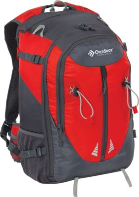 Outdoor Products Cross Breeze Internal Frame Pack Red - Outdoor Products Day Hiking Backpacks