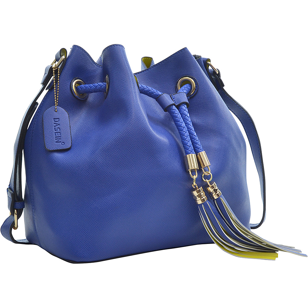 Dasein Bucket Bag Blue - Dasein Leather Handbags - Handbags, Leather Handbags