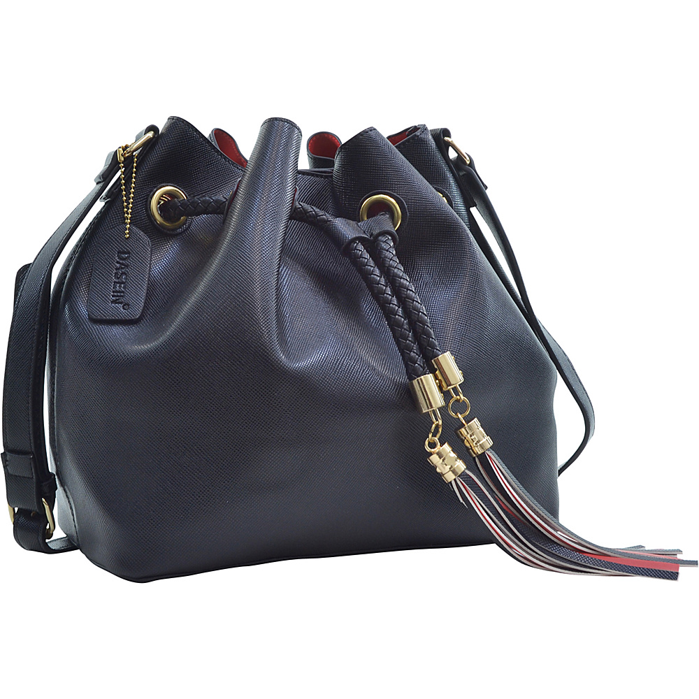 Dasein Bucket Bag Black - Dasein Leather Handbags - Handbags, Leather Handbags