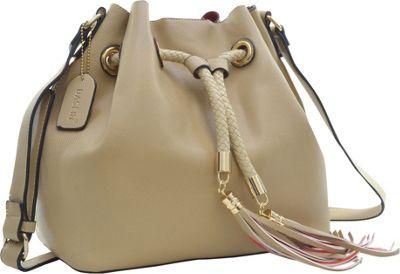 Dasein Bucket Bag Beige - Dasein Leather Handbags