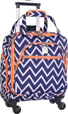 Jenni Chan Aria Madison 15 inch Spinner Underseat Tote - eBags Exclusive Navy - Jenni Chan Softside Carry-On