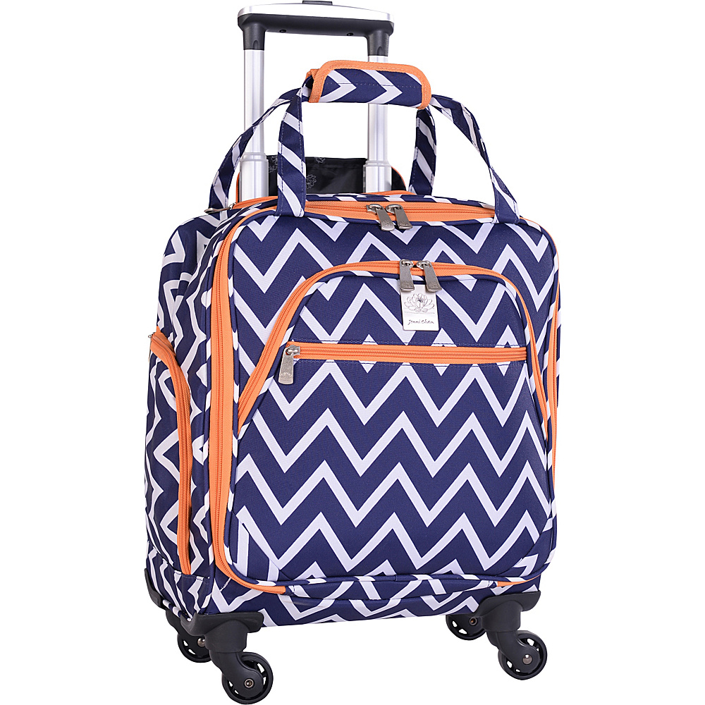 Jenni Chan Aria Madison 15 Spinner Tote Navy Jenni Chan Luggage Totes and Satchels