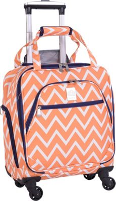 Jenni Chan Aria Madison 15 inch Spinner Underseat Tote - eBags Exclusive Orange - Jenni Chan Softside Carry-On