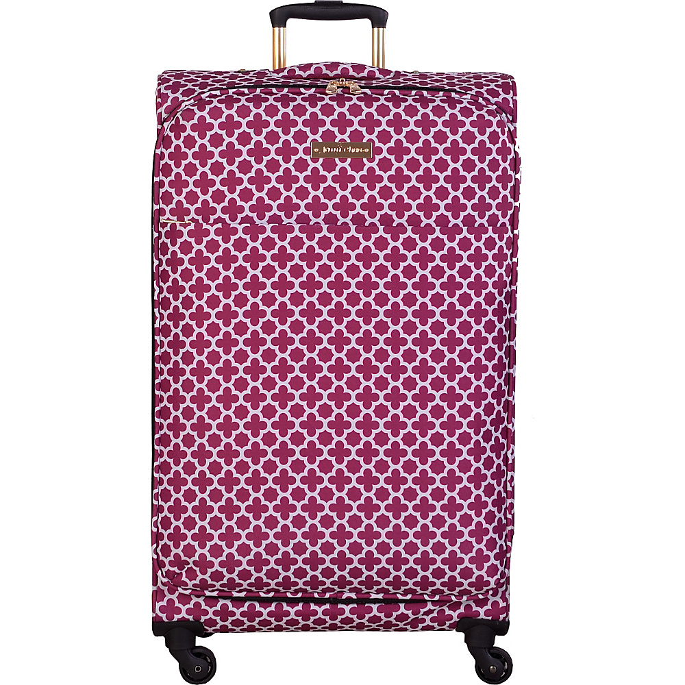 Jenni Chan Aria Broadway 28 Upright Spinner Cranberry Jenni Chan Softside Checked