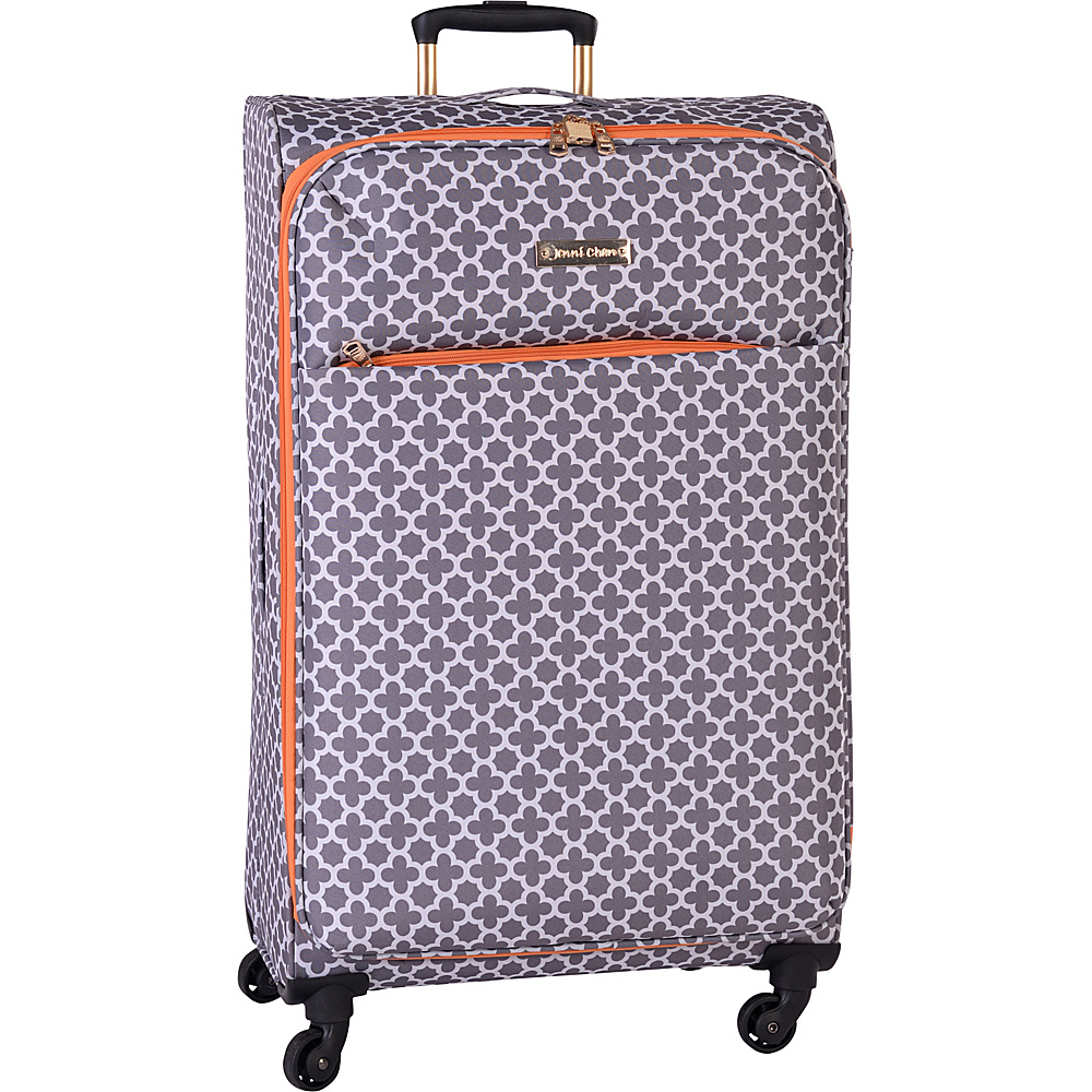 Jenni Chan Aria Broadway 28 Upright Spinner Grey Jenni Chan Softside Checked