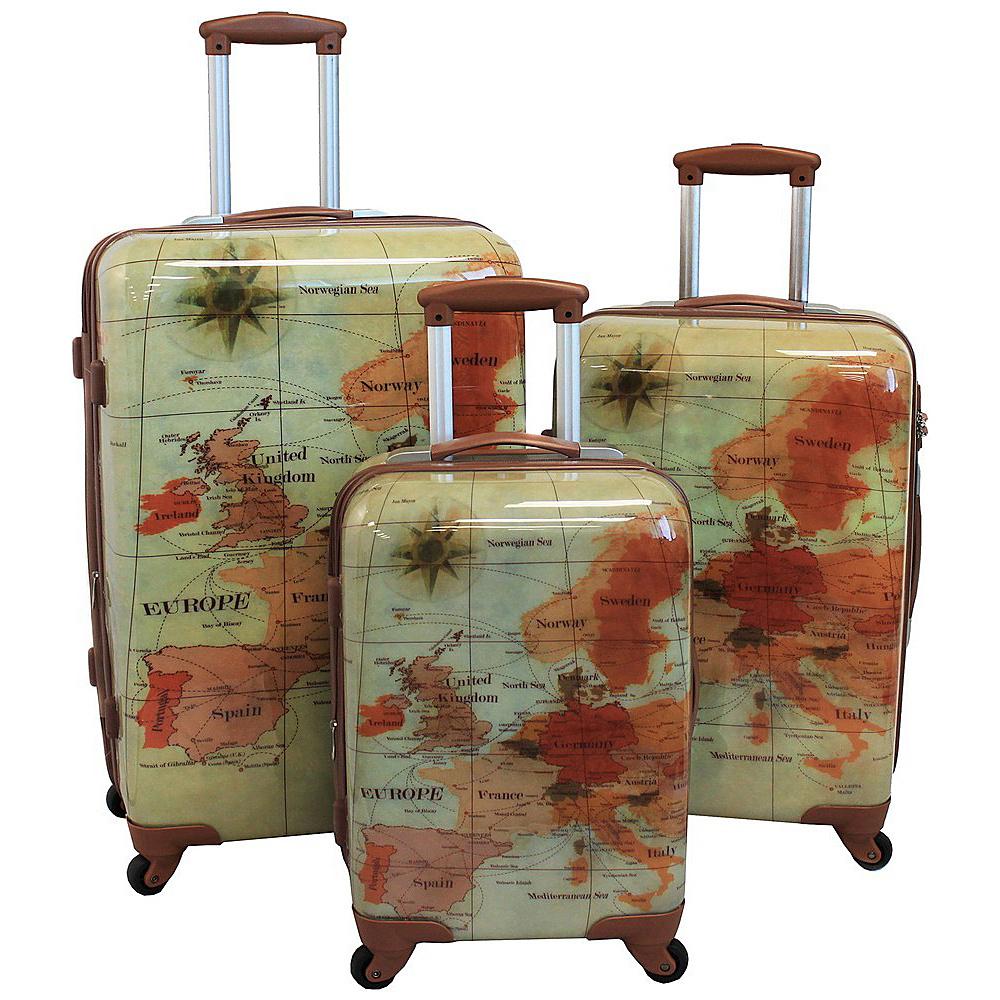 World Traveler The Euro 3-Piece Spinner Hardside TSA Lock Luggage Set Euro - World Traveler Luggage Sets - Luggage, Luggage Sets