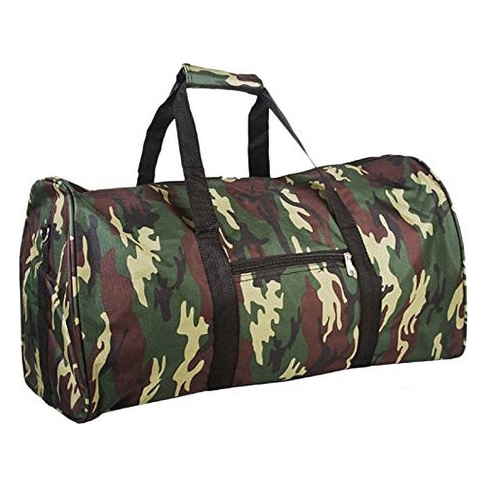 World Traveler Camouflage 22 Lightweight Duffle Bag Green Camo - World Traveler Rolling Duffels - Luggage, Rolling Duffels