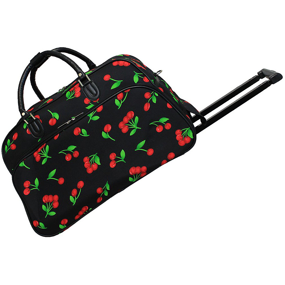 World Traveler Cherry 21 Rolling Duffel Bag Cherry - World Traveler Rolling Duffels - Luggage, Rolling Duffels