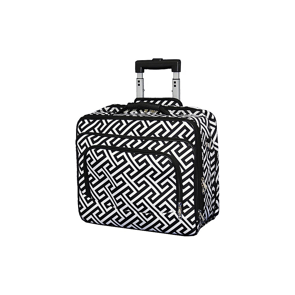 World Traveler Greek Key Rolling 17 Laptop Case Black White Greek Key - World Traveler Non-Wheeled Business Cases - Work Bags & Briefcases, Non-Wheeled Business Cases