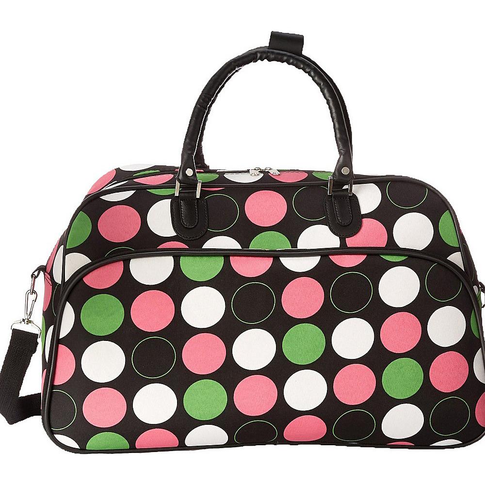 World Traveler New Multi Dot 21 Carry-On Duffel Bag New Multi Dot - World Traveler Rolling Duffels - Luggage, Rolling Duffels