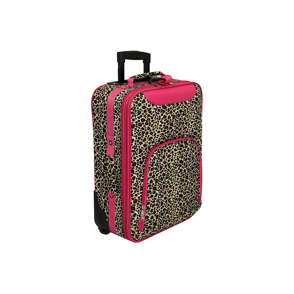 World Traveler Leopard 20 Rolling Carry-On Pink Trim Leopard - World Traveler Softside Carry-On - Luggage, Softside Carry-On