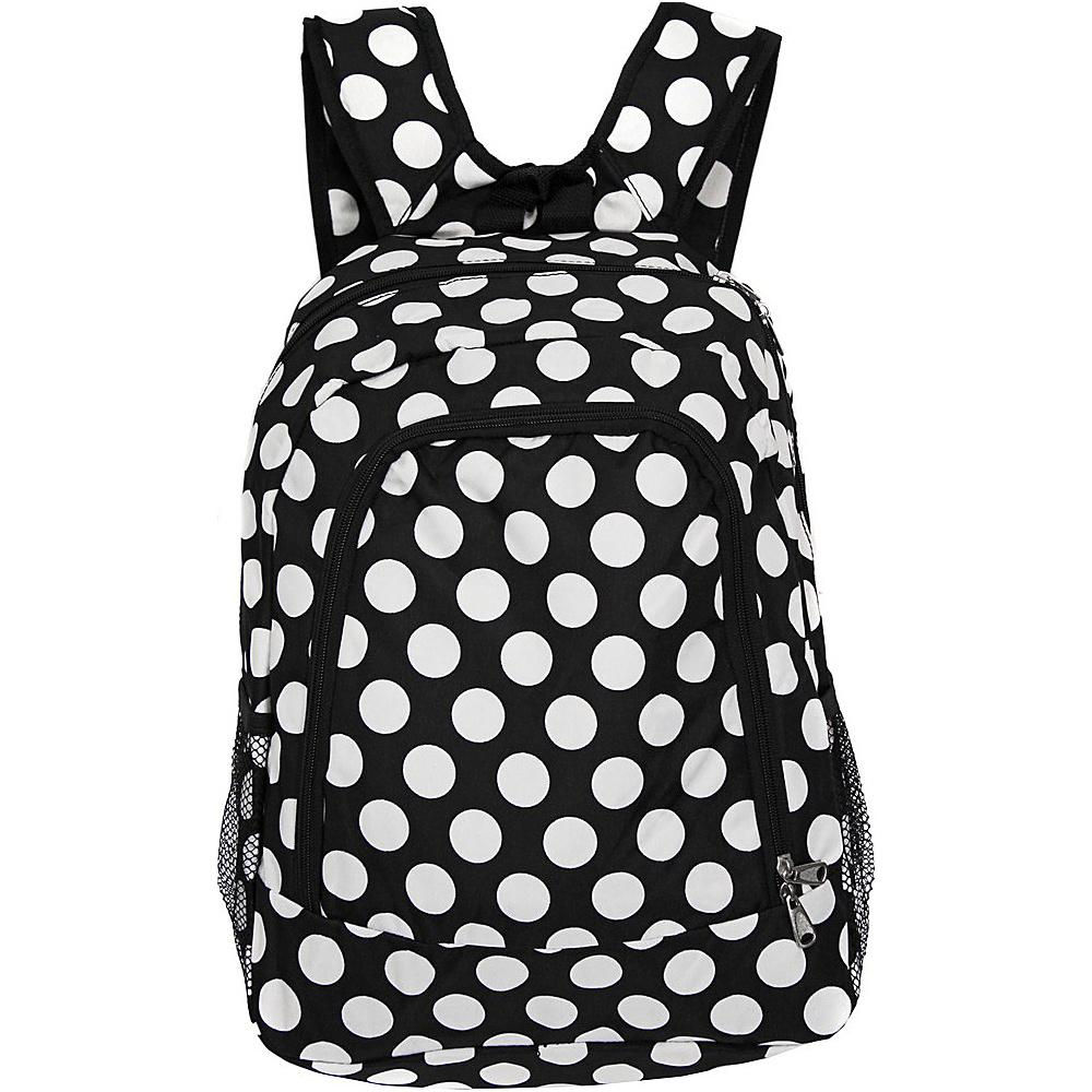World Traveler Dots ll 16 Multipurpose Backpack Black White Dot II - World Traveler Everyday Backpacks - Backpacks, Everyday Backpacks
