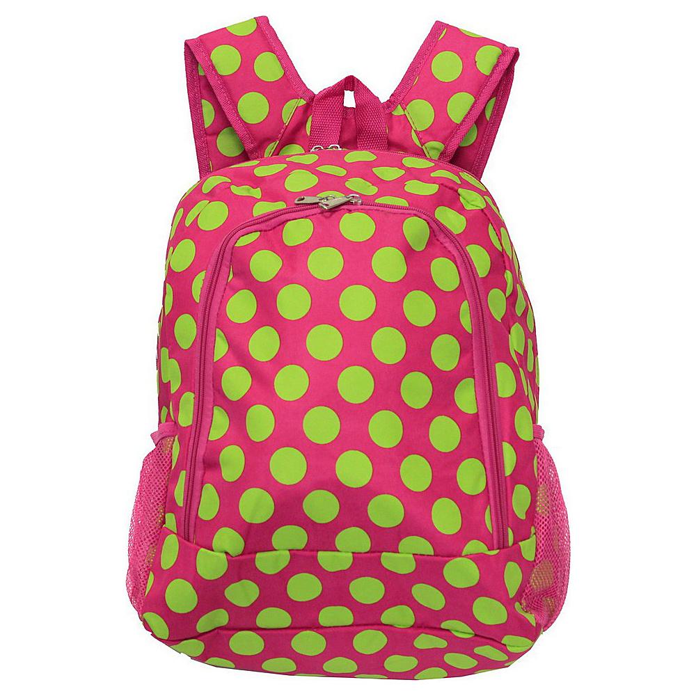 World Traveler Dots ll 16 Multipurpose Backpack Fuchsia Lime Dot II - World Traveler Everyday Backpacks - Backpacks, Everyday Backpacks