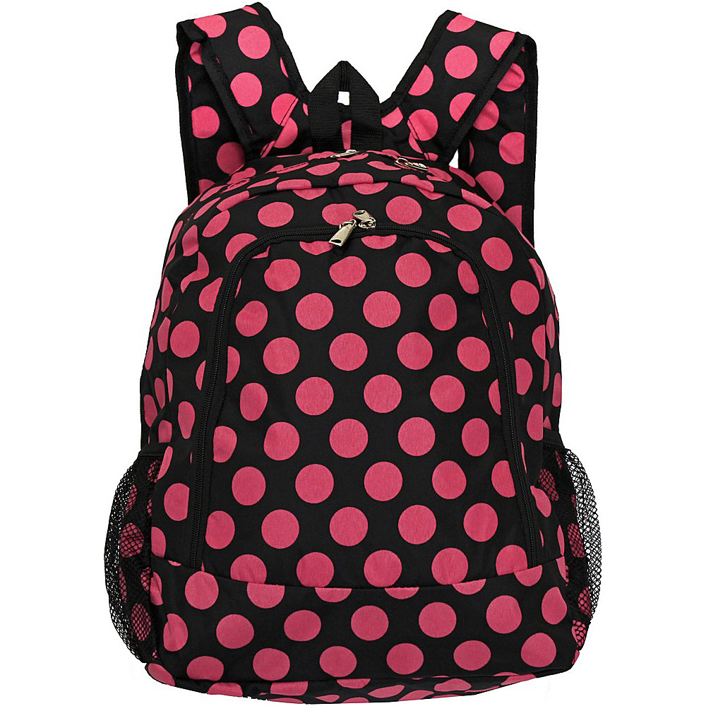 World Traveler Dots ll 16 Multipurpose Backpack Black Pink Dot II World Traveler Everyday Backpacks