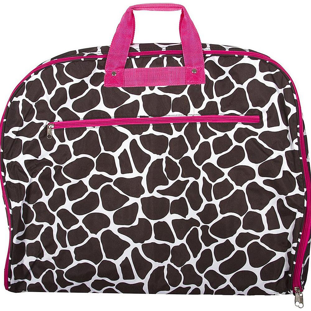 World Traveler Giraffe 40 Hanging Garment Bag Pink Trim Giraffe - World Traveler Garment Bags - Luggage, Garment Bags