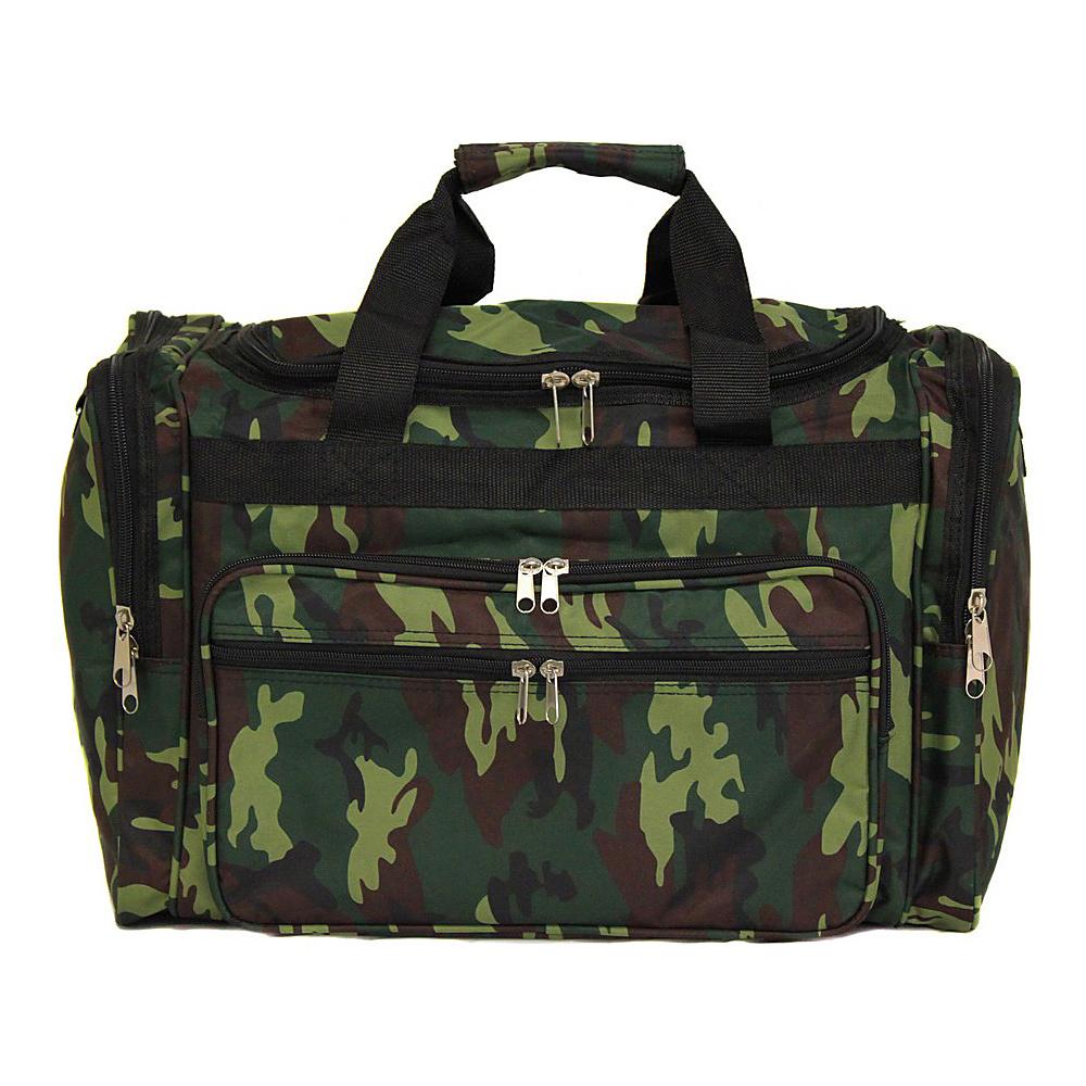 World Traveler Camouflage 22 Travel Duffle Bag Green Camo - World Traveler Rolling Duffels - Luggage, Rolling Duffels