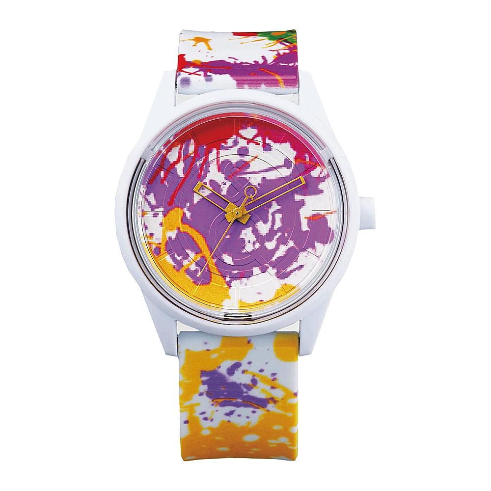 Q & Q Smile Solar Women's Spice Collection Paint Splash Watch Multi Paint Splash - Q & Q Smile Solar Watches