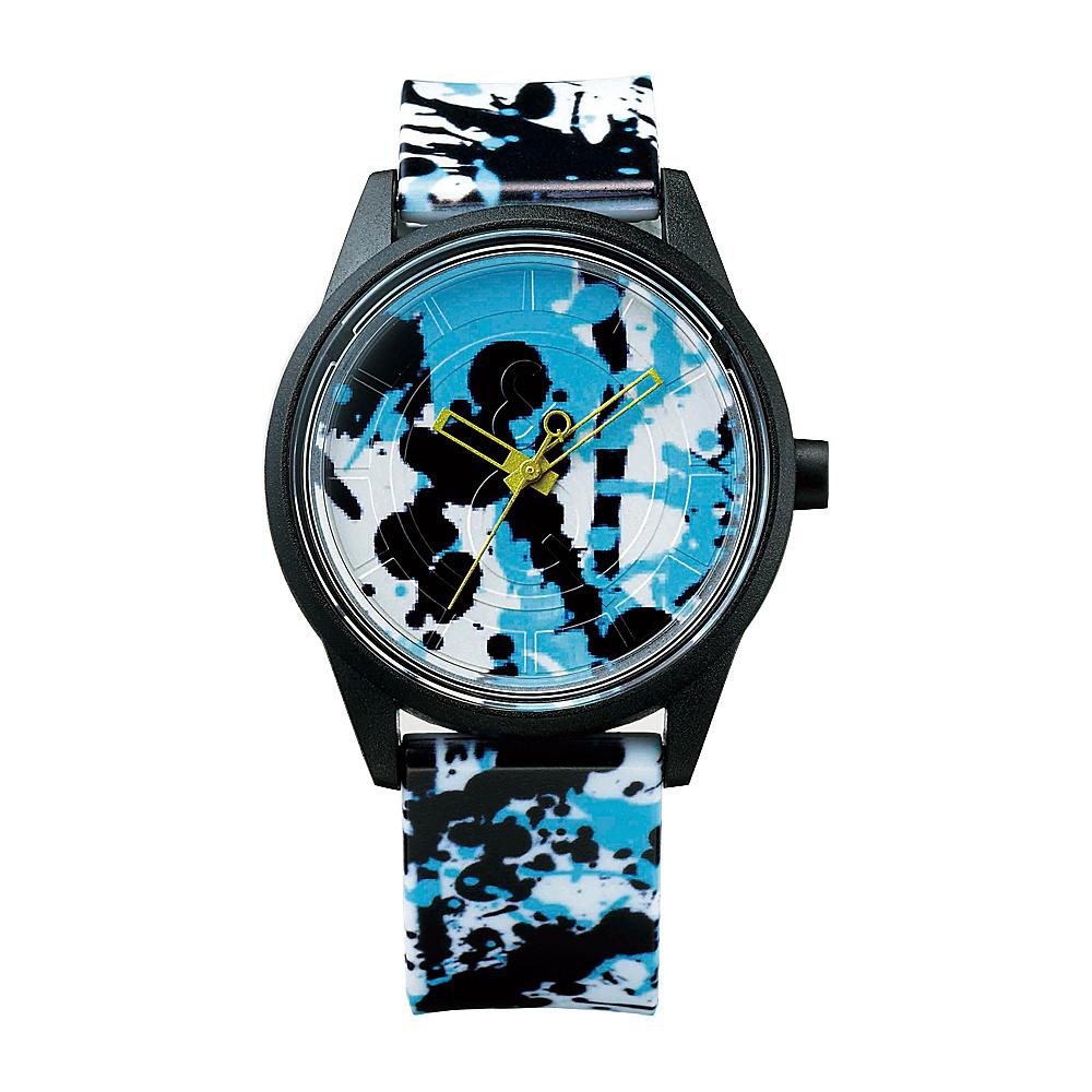 Q & Q Smile Solar Women's Spice Collection Paint Splash Watch Black/Blue Paint Splash - Q & Q Smile Solar Watches