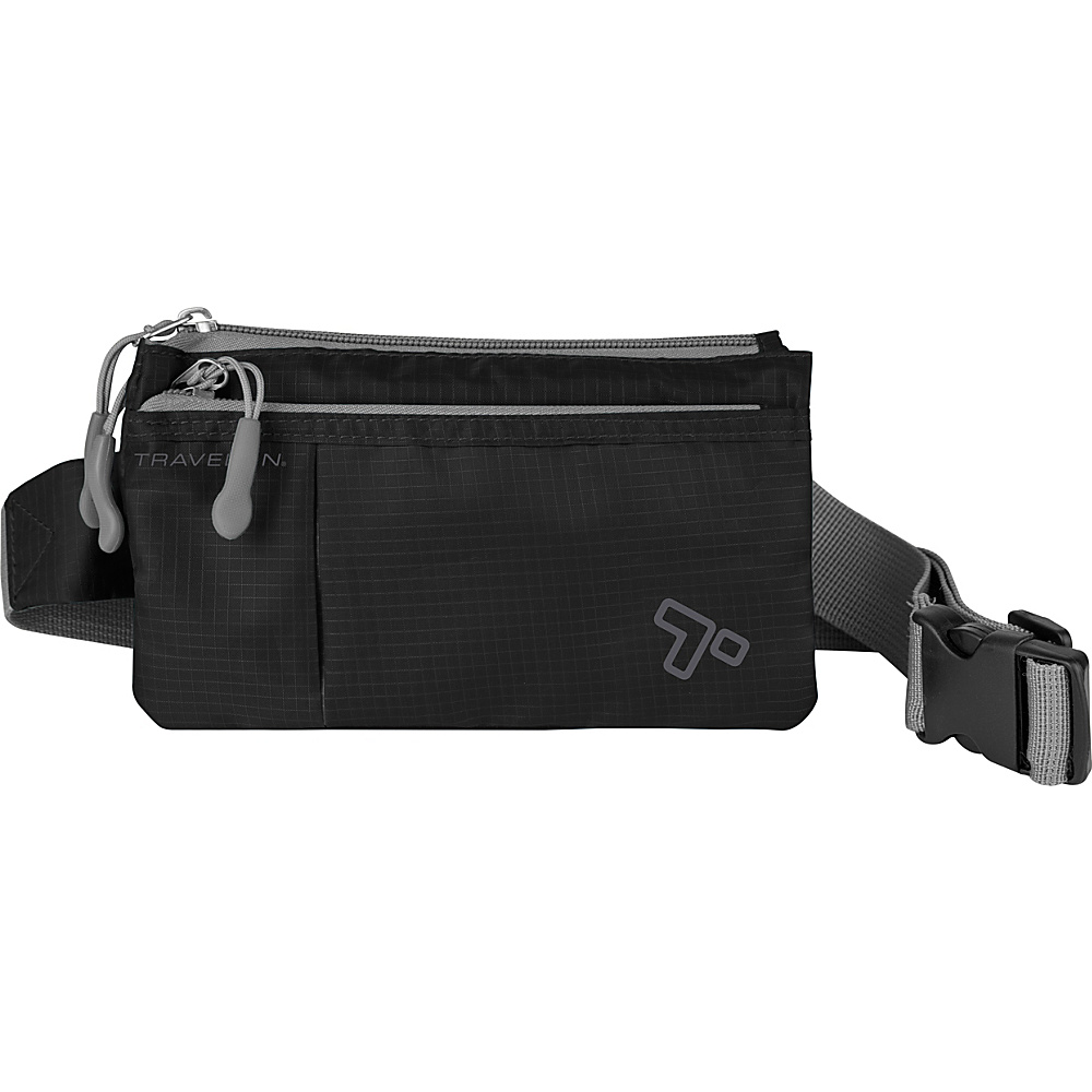 Travelon 6 Pocket Waistpack Black - Travelon Waist Packs - Backpacks, Waist Packs