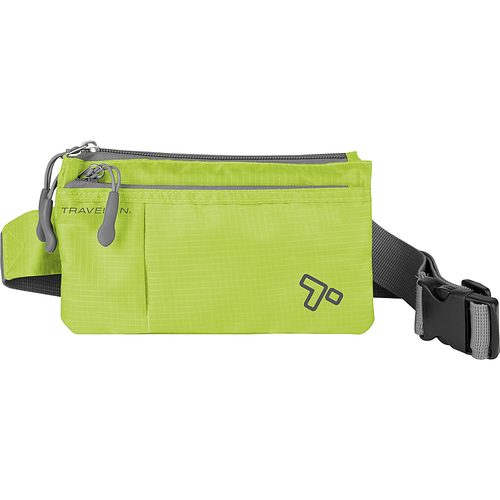 Travelon 6 Pocket Waistpack Lime - Travelon Waist Packs - Backpacks, Waist Packs