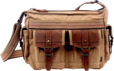 TSD Turtle Ridge Top Zip Crossbody Camel - TSD Fabric Handbags