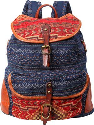 TSD Tribal Secret Backpack Orange/Navy - TSD Fabric Handbags