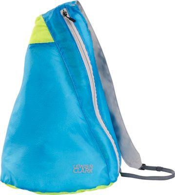 Lewis N. Clark ElectroLight Sling Pack Blue/Neon Green - Lewis N. Clark Packable Bags