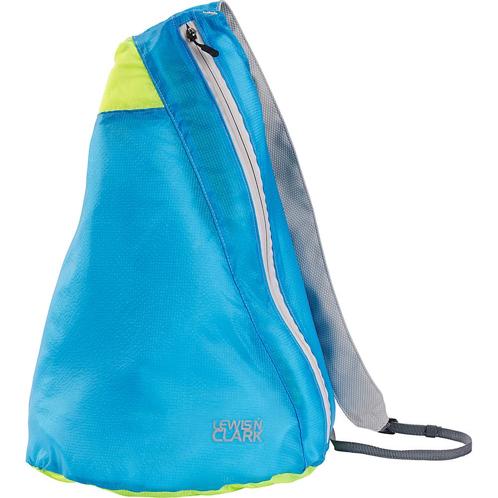 Lewis N. Clark ElectroLight Sling Pack Blue Neon Green Lewis N. Clark Packable Bags