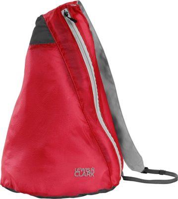 Lewis N. Clark ElectroLight Sling Pack Red/Charcoal - Lewis N. Clark Packable Bags