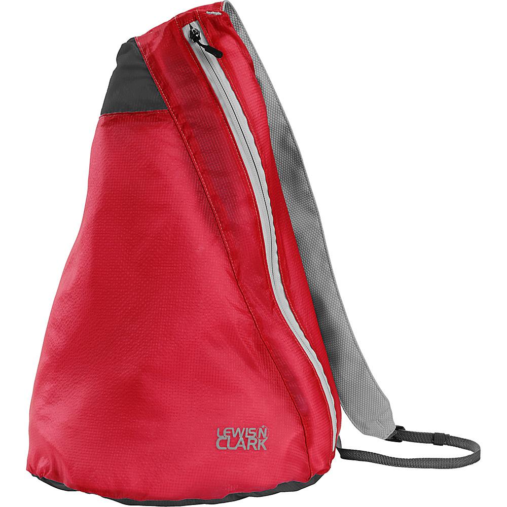 Lewis N. Clark ElectroLight Sling Pack Red Charcoal Lewis N. Clark Packable Bags
